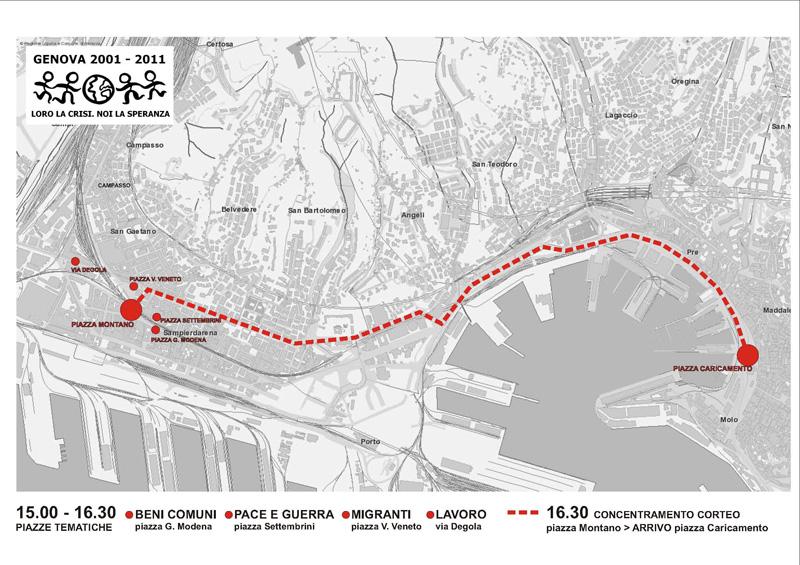 Genova Manifestazione G8 2001-2011